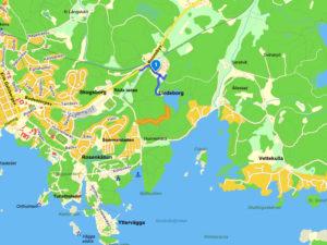 Lindenborgssjön karta